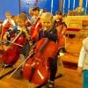 Getting ready for cello concert