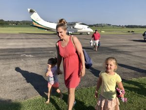 Eliza, two daughters and the plane